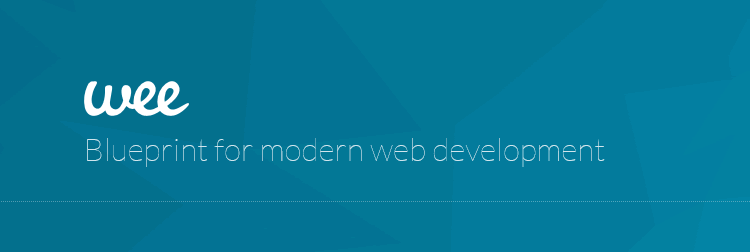 Wee, a lightweight front-end framework for logically building complex, responsive web projects