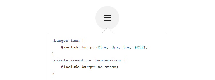 Sass Burger, a Sass mixin for creating hamburger icons