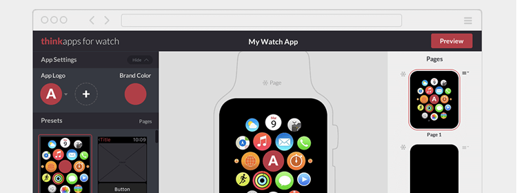 ThinkApps for Watch, a free tool that will allow anyone to create an Apple Watch app concept
