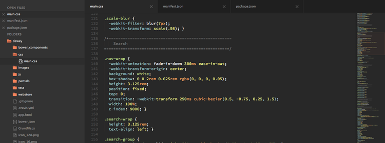 Predawn, a dark interface and syntax theme for Sublime Text and Atom