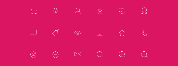 30 Free eCommerce Line Icons