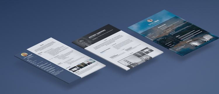 VisualCV creative resume web app design