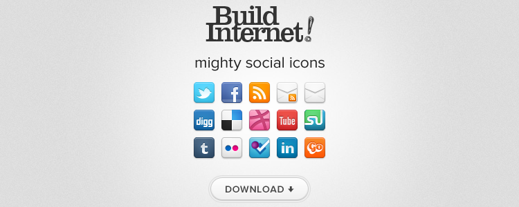 Mighty Social Icons by Build Internet