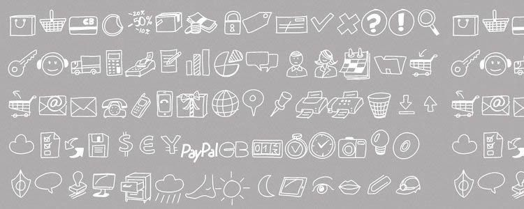 web free PW Drawn Icon Font