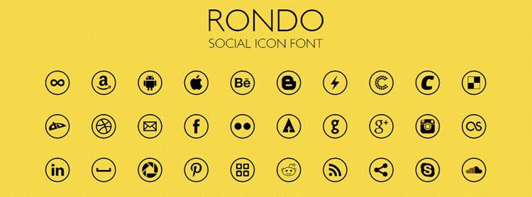 font free Rondo Social Icon Font