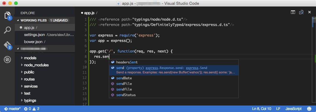 Microsoft released Visual Studio Code last week