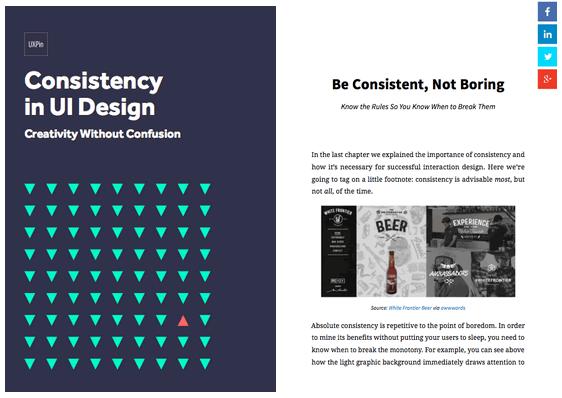 Creativity & Consistency in UI Design