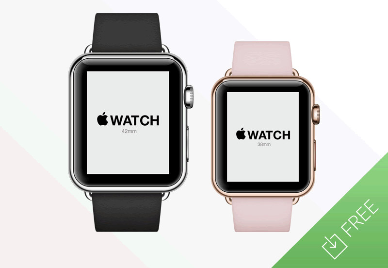Freebie Apple Watch Mockup PSD