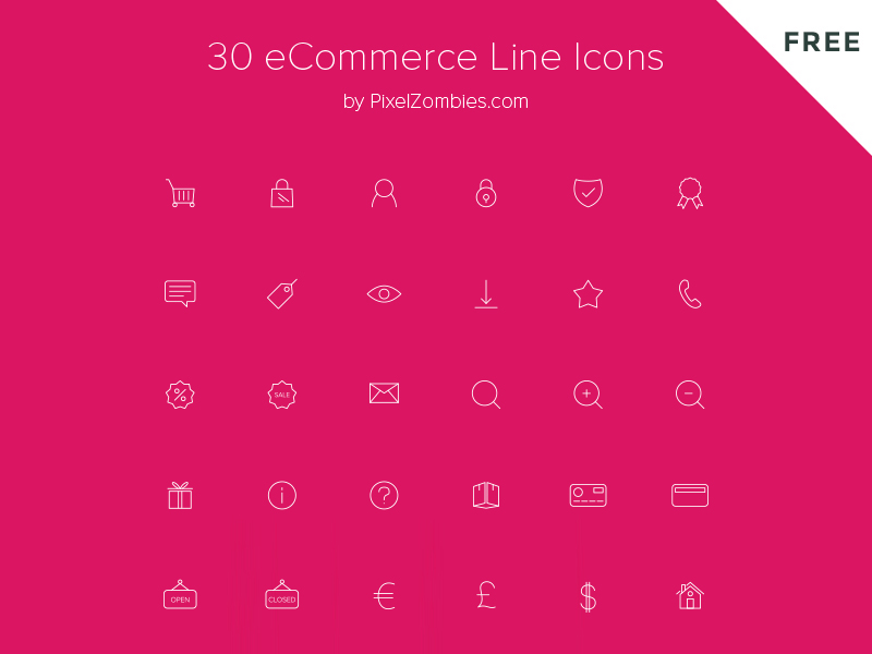 Freebie eCommerce Line Icons resources web design weekly