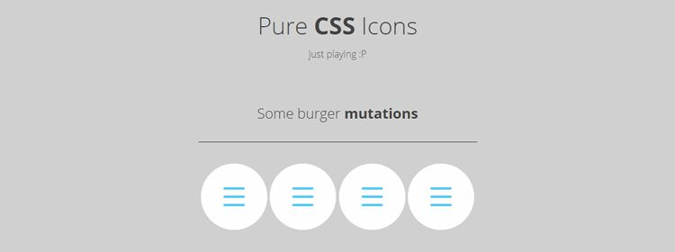 Pure CSS Icons By Rafael González