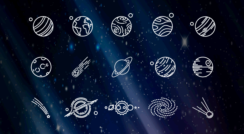 Freebie Space Icon Set