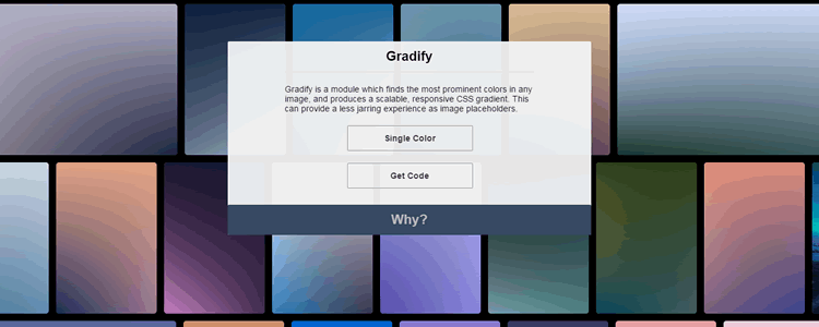 Gradify Module producing CSS gradients placeholders images
