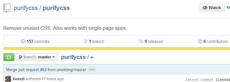 PurifyCSS utility CSS selectors unused app