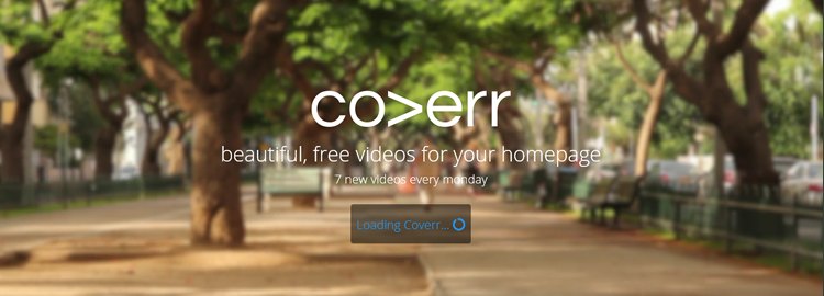 Coverr, Beautiful, free videos for your homepage
