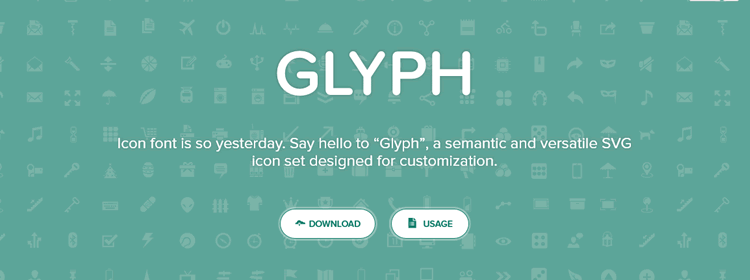 Glyph, a semantic and versatile SVG icon set designed for customization
