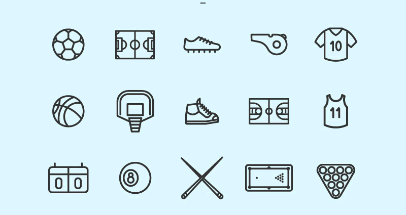 Freebie 100 Lineal Sport Icons Pack SVG and PNG