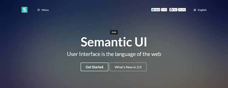 Semantic UI v.2 has been released