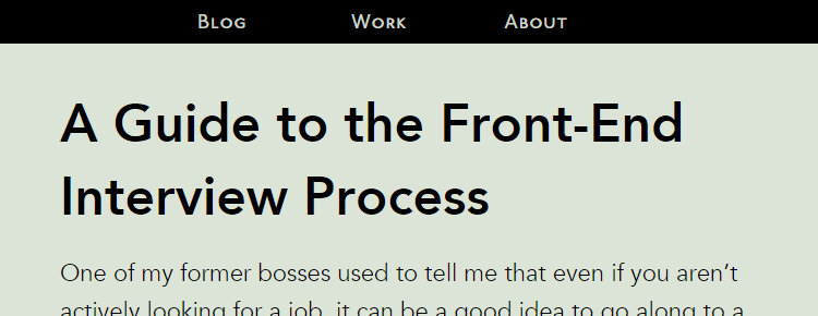 A Guide to the Front-End Interview Process