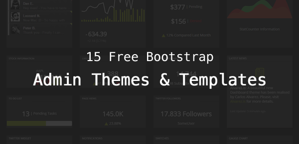 15 Free Bootstrap Admin Themes