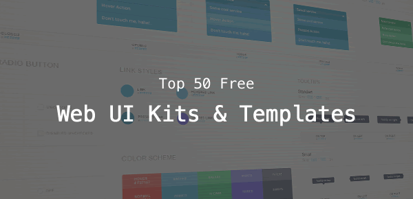 Top 50 Free Web UI Kits and Templates