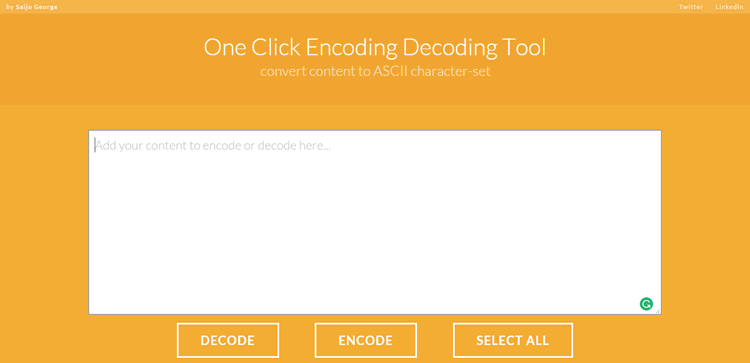 A useful app for converting content to ASCII character-set