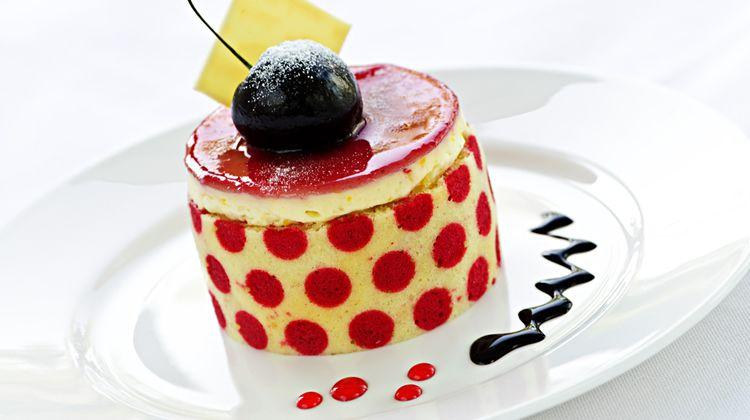 Fancy dessert on a plate