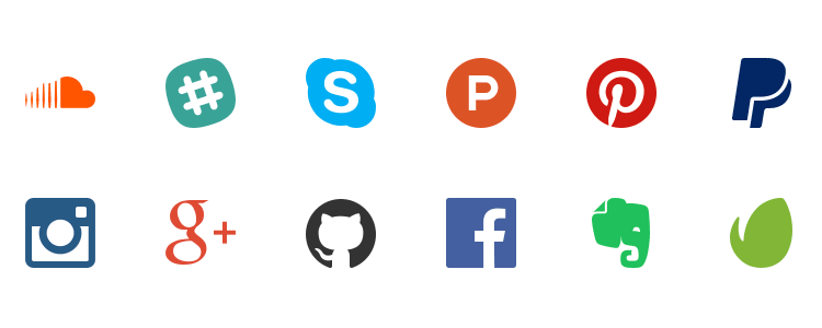 Nucleo Social Icons