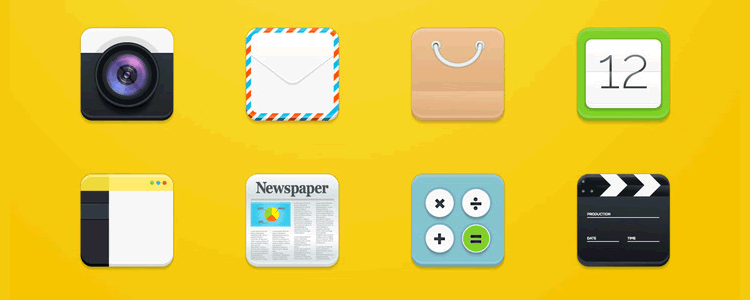Modern Square Rounded Icons