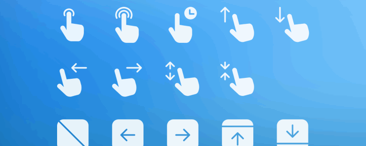 Gesture and Transition Icons