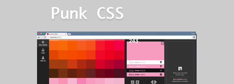 Punk CSS a new approach to web design