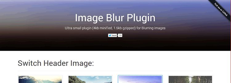 Image Blur Plugin ultra light cross browser image blurring plugin jQuery