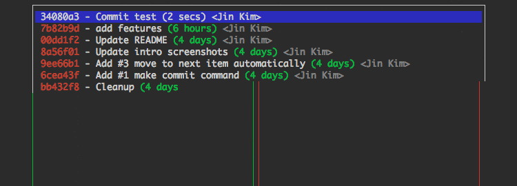 git-commander a git tool with an easy terminal interface