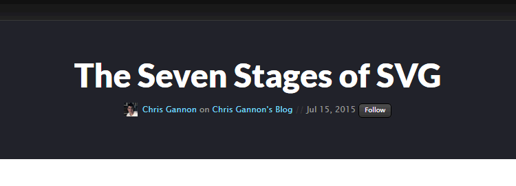 The Seven Stages of SVG