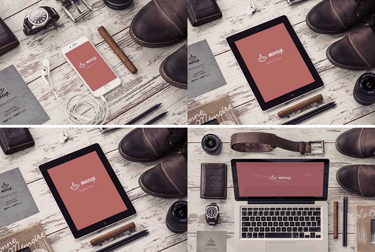 Freebie: Stationary Device Mockups