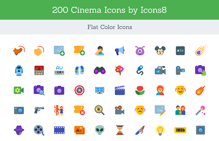 Cinema Icon Set SVG
