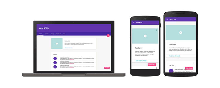 Google introduced Material Design Lite last week