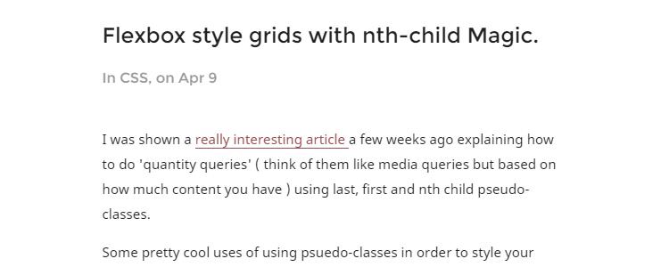 Flexbox Style Grids with nth-child Magic