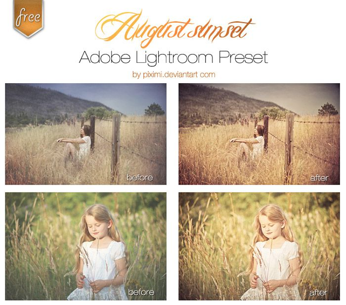 August Sunset Lightroom Presets