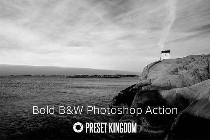 Bold Black & White Photoshop Actions