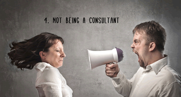 Not Being A Consultant