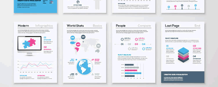 Infographic Brochure Template Covers AI