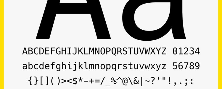 Hack typeface designed source code
