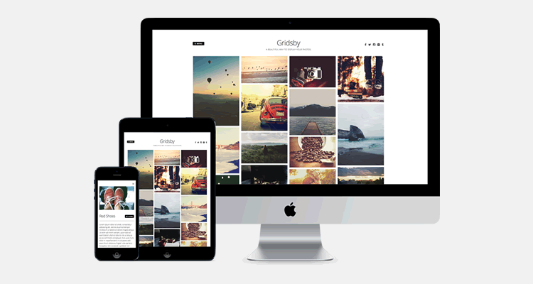Gridsby Pinterest free photo blogging wordpress theme creatives
