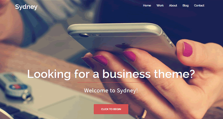 Sydney powerful business theme companies freelancers free wordpress