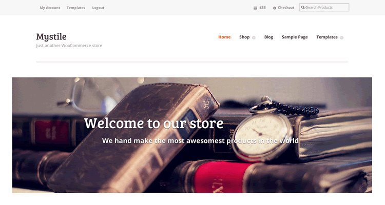 Mystile clean fast speedy bare-bones eCommerce free wordpress WooCommerce theme