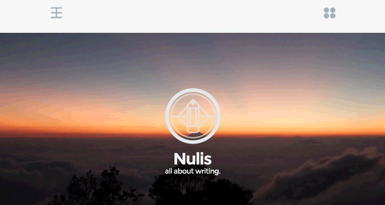 Nulis minimal free wordpress single-column theme personal blogging