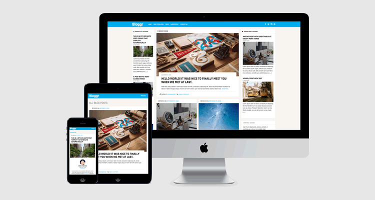Bloggr wordpress free content focused theme bloggers magazine layouts