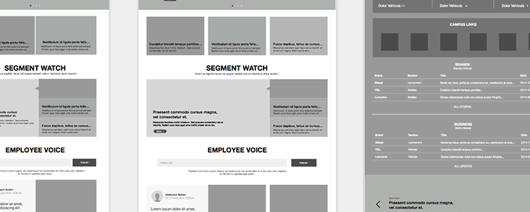Intranet Wireframe Kit