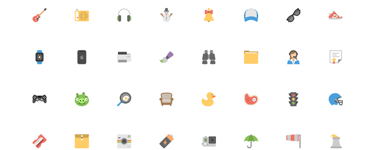 Squid Ink Flat Icons