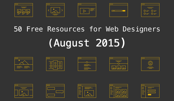 50 Free Resources for Web Designers from August 2015